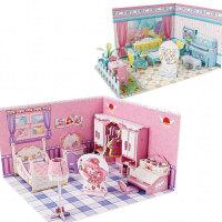 拼装3d立体拼图模型儿童纸模玩具公主卧室场景 魔仙立体拼图2件套 立体拼图2件套