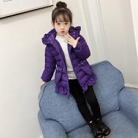 女童棉衣外套2017冬装新款童装儿童中长款女韩版洋气羽绒棉袄