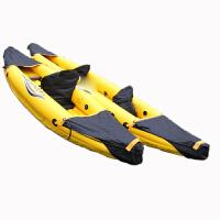 PATHFINDER橙黄色单人独木舟皮划艇橡皮艇充气船夹网运动船
