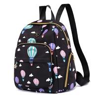 双肩包女士休闲背包尼龙布背包时尚印花布旅行书包百搭中年妈妈旅行包定制