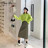 七格格格子半身裙a型2019新款冬季韩版中长款外穿百搭学生裙子潮