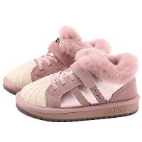 女童棉鞋冬季新款童鞋儿童鞋子冬男童保暖鞋宝宝冬鞋