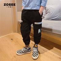 【商场同款】ZOSEE左西男童裤子儿童休闲工装裤中大童秋2020新款