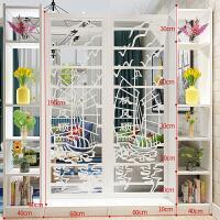 现代中式屏风隔断客厅镂空雕花装饰玄关柜餐厅阻断简约时尚置物架