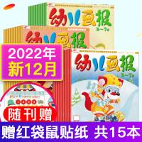 【原包装赠品齐全】红袋鼠幼儿画报杂志2020年1.2月+2019年11/12月4个月12本 打包双月非订阅合订本红袋鼠