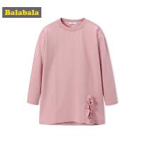 巴拉巴拉秋装儿童卫衣女韩版洋气上衣2018新款中大童女童运动卫衣