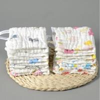 纯棉婴儿毛巾新生儿用品宝宝口水巾沙布小方巾柔软儿童手帕洗澡巾