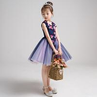儿童公主裙走秀礼服女童小主持人模特演出服花童婚纱女宝宝蓬蓬裙