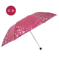 细轻铅笔伞便携小铅笔太阳伞黑胶防晒防紫外线折叠两用晴雨伞