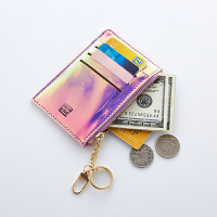 小卡包钱包一体包女式可爱镭射小巧超薄证件位零钱信用银行卡套女