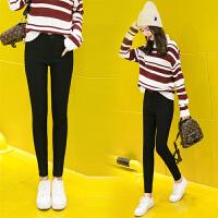 加绒打底裤女外穿韩版秋冬款加厚新款高腰显瘦修身小脚铅笔裤