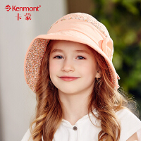 kenmont儿童帽子夏天9-13岁女孩盆帽可折叠遮阳帽防晒太阳帽亲子4731