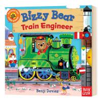 小熊很忙系列 火车司机 英文原版 Bizzy Bear Train Engineer 英文版儿童英语启蒙绘本 益智游戏机