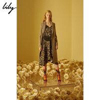【2折到手价167.8元】全场叠加100元券 Lily春新款女装不对称印花连衣裙117429C7922
