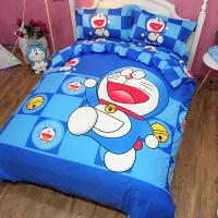 小猪佩奇床上卡通四件套棉宿舍三/4件套可爱kt1.5m床单被套