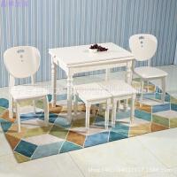地中海折叠餐桌椅实木餐厅家具小户型桌子