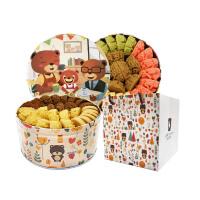 珍妮曲奇 四味大盒640g+彩虹小盒320g 2盒零食礼包 饼干点心休闲高颜值小吃