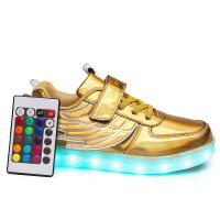 20180415074456621翅膀遥控夜光鞋儿童发光鞋USB充电男童女孩LED带灯运动鞋 26 16.5cm