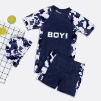 儿童泳衣男童分体泳裤套装男孩中大童长袖游泳衣青少年防晒泳装备