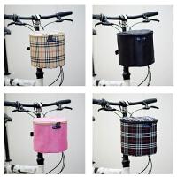 山地车车筐 加厚帆布前筐儿童车滑板电动自行车篮子折叠车前车筐