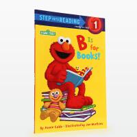 【5折封顶】#美国进口 Step Into Reading系列 芝麻街系列故事 B is for Books! (Sesame Street)【平装】