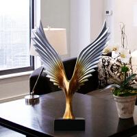 大展宏图老鹰摆件创意办公室工艺饰品酒柜桌面客厅小摆设开业礼品