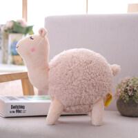 搞怪丑萌小绵羊布娃娃创意羊驼毛绒玩具个性女孩按摩抱枕玩偶