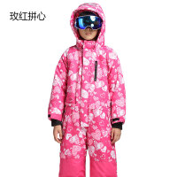 户外冬季可脱卸儿童滑雪服加厚保暖抗寒防风防水男女童连体滑雪服