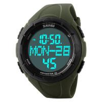 男士手表防水电子表多功能户外运动计步游泳男学生潮流腕表