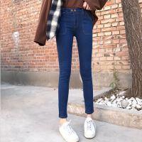 早春新款版弹力时尚版休闲个性修身高腰约牛仔裤女铅笔裤