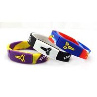 【买2送1】球星同款篮球运动手环硅胶能量手腕带男女手镯手带橙灰款