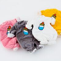 珊瑚绒女婴儿童睡衣连体衣服0岁3男宝宝1秋冬装6冬季加绒外出抱衣
