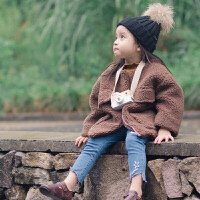 童装冬季儿童羊羔毛外套新款3岁女宝宝加厚韩版外套大衣 179406