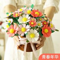 礼花束 手工DIY不织布材料包制作创意自制礼物学生浪漫花束布艺 花朵