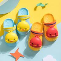�和�拖鞋夏男女童可�哿Ⅲw包�^浴室�确阑��胗�����洞洞鞋1-3�q2