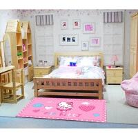 粉色可爱儿童房卡通卧室床边地毯长方形地垫男孩女孩幼儿园垫订做 粉红色 天使猫