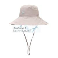 牧高笛户外女士双面可戴夏季防晒遮阳清新宽檐盆帽子渔夫太阳帽子 均码