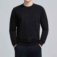 adidas阿迪达斯男服卫衣2019新款HARDEN圆领篮球套头衫运动服DP5708