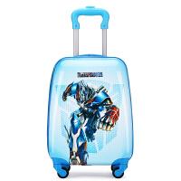 【特惠】2019优选儿童拉杆箱男女卡通旅行箱万向轮16寸18寸行李箱拉杆书包旅行拉箱 乌蓝色 18寸变形金刚