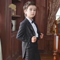 儿童礼服男 燕尾服春秋 男孩钢琴演出服