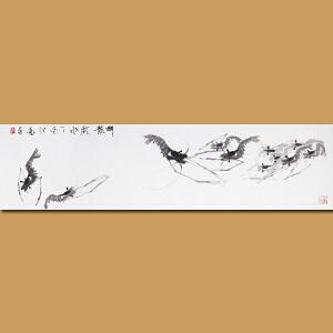"""""""白石遗风""""江苏省美术家协会会员 水墨名家 伏艺先生作品――群龙戏水"""