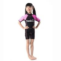 儿童连体泳衣ebay浮潜服短袖游泳训练防寒保暖游泳衣加厚