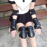 轮滑滑板长板护具男套装女滑雪滑冰滑轮护肘护膝儿童运动全套