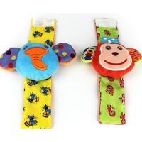0-1岁宝宝动物手表带手腕带子袜子带摇铃响铃 婴儿新生儿玩具