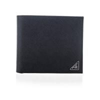 【网易考拉】PRADA 普拉达 男士短款皮革折叠钱包