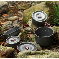 户外野营套锅便携式野炊锅具野餐4-5人三件套套装折叠 支持礼品卡支付