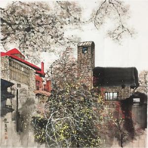 刘懋善《别墅》著名画家