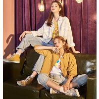 限时抢购价129唐狮春秋季2019款女士衬衫复古港味韩版白长袖衬衣设计感小众上衣