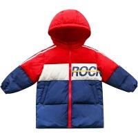 儿童羽绒服中长款男童外套中大童冬装新款