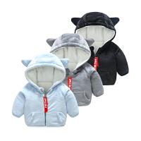 婴儿外套男童秋冬装加绒加厚保暖婴幼儿女宝宝衣服